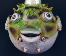 Green Puffer Fish Ornament