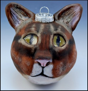 Brown Tabby Cat Ornament