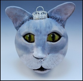 Grey Tabby Cat Ornament