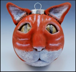 Tiger Striped Cat Ornament